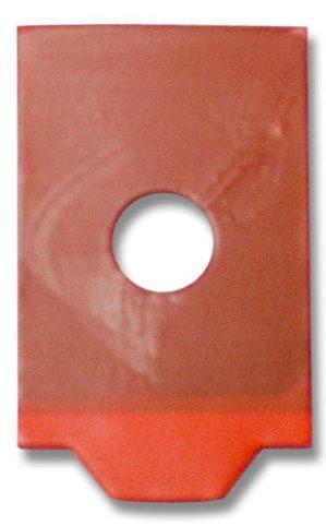 Red Blocking Pads Half-Eye Roll - 2000 28x17mm