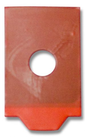 Red Blocking Pads Half-Eye Roll - 1000 28x17mm