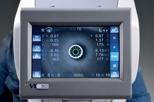 VX90 Autorefractor / Keratometer Screen