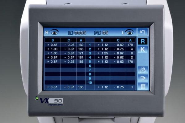 VX90 Objective Refraction Measurement
