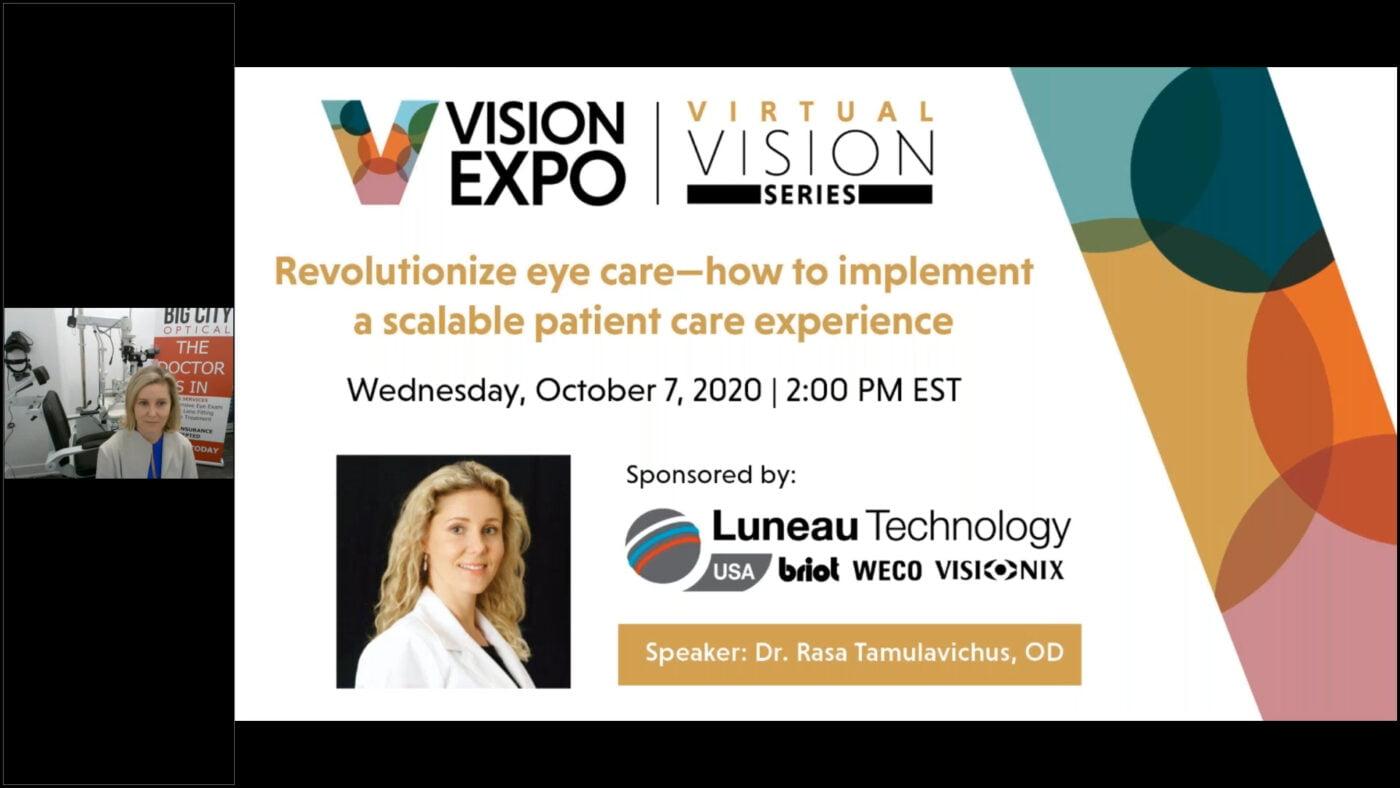 Dr. Rasa Vision Expo Webinar
